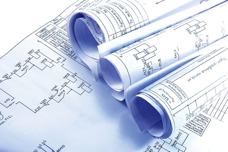 Engineering electricity blueprint rolls